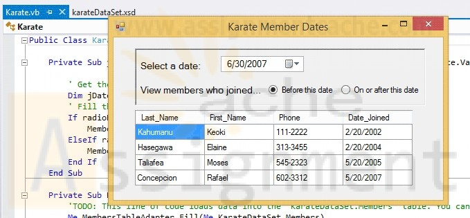 Advanced Visual Basic 2010 Chapter 4 Programming Challenge 4 Advanced Karate Member Dates