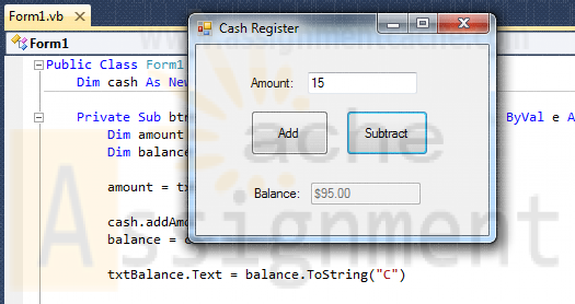 BMIS 208 Programming Assignment 10 Cash Register