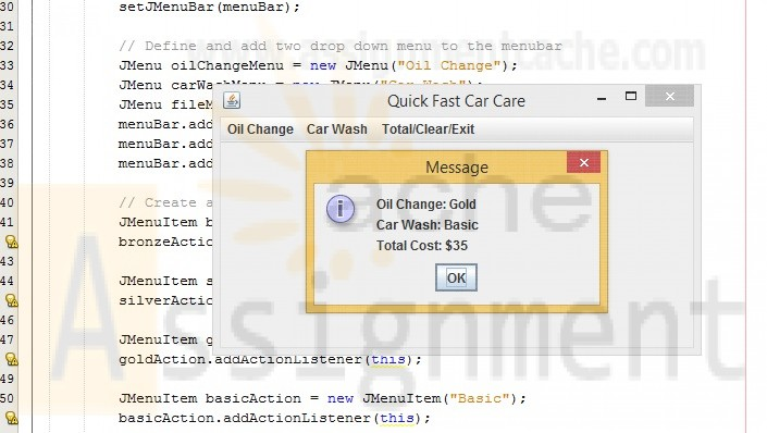 CIS355A Week 4 iLab Quick Fast Car Care Application