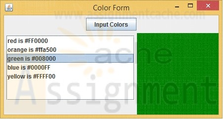 CMIS 242 Project 4 Color Menu