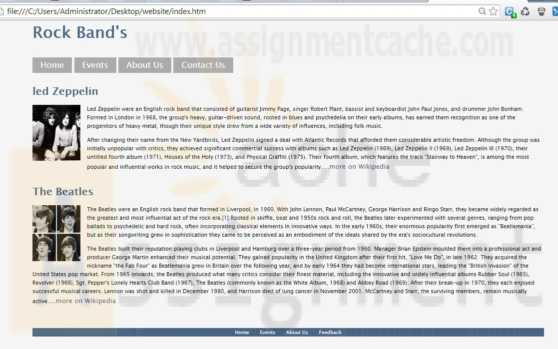 CTI 110 Website Project Home Page
