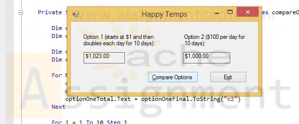 Happy Temps Visual Basic Solution