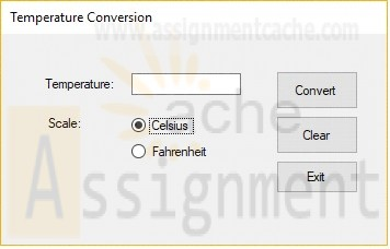 Intro to Programming Lab 5 Temperature Conversion (Form)