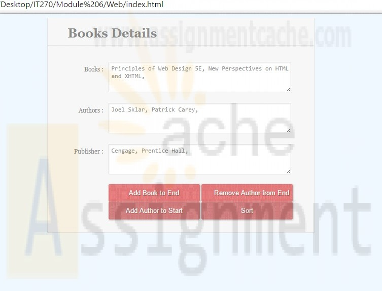 IT 270 HTML Form Module 6 Assignment