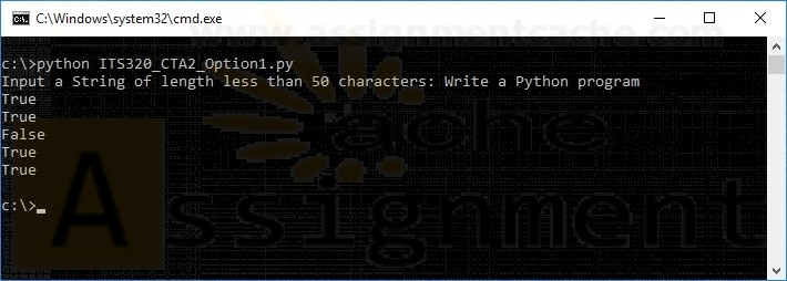 ITS320 Module 2 Option 1 Creating a Python Application for string validation