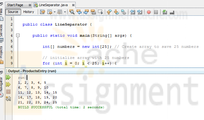 ITS 320 Assignment 4 Line Separator Java Program