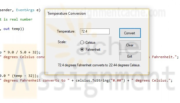 Lab 6 Temperature Conversion (Code) Success