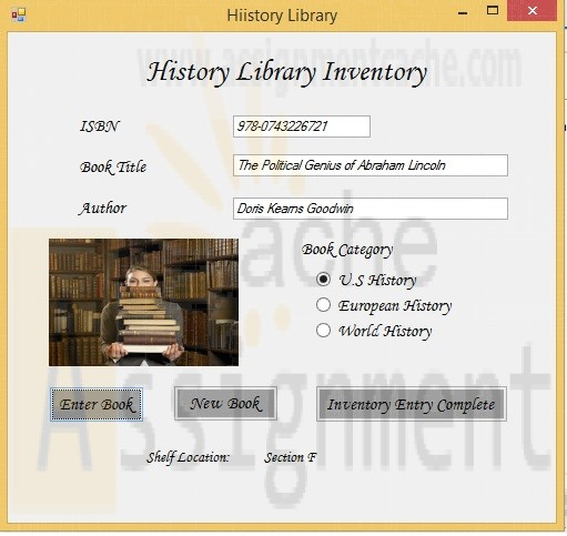 Microsoft VB 2012 Shelly Cashman Chapter 11 Case Programming 2 HISTORY LIBRARY INVENTORY