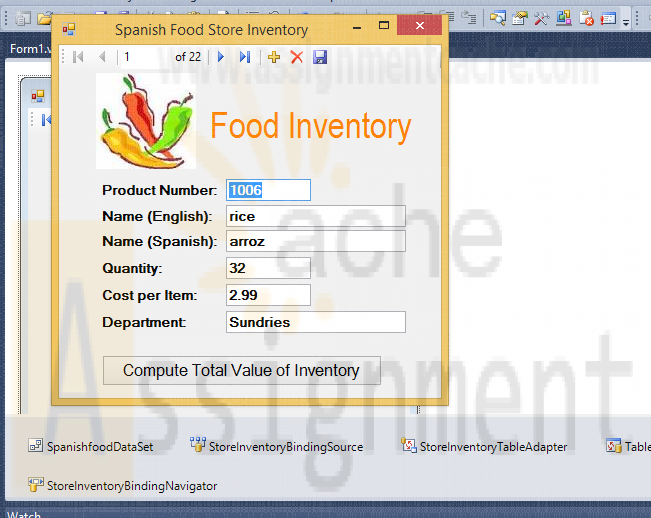 Microsoft Visual Basic 2010 Chapter 10 Case Problem 3 Spanish Food Store