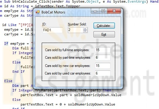 Microsoft Visual Basic 2010 Reloaded Diane Zak Chapter 10 Case Project BobCat Motors Solution