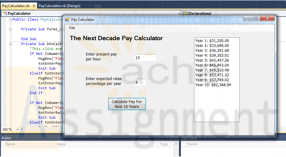 Microsoft Visual Basic 2010 Shelly Cashman Series Chapter 6 Case Problem 6 Pay Calculator