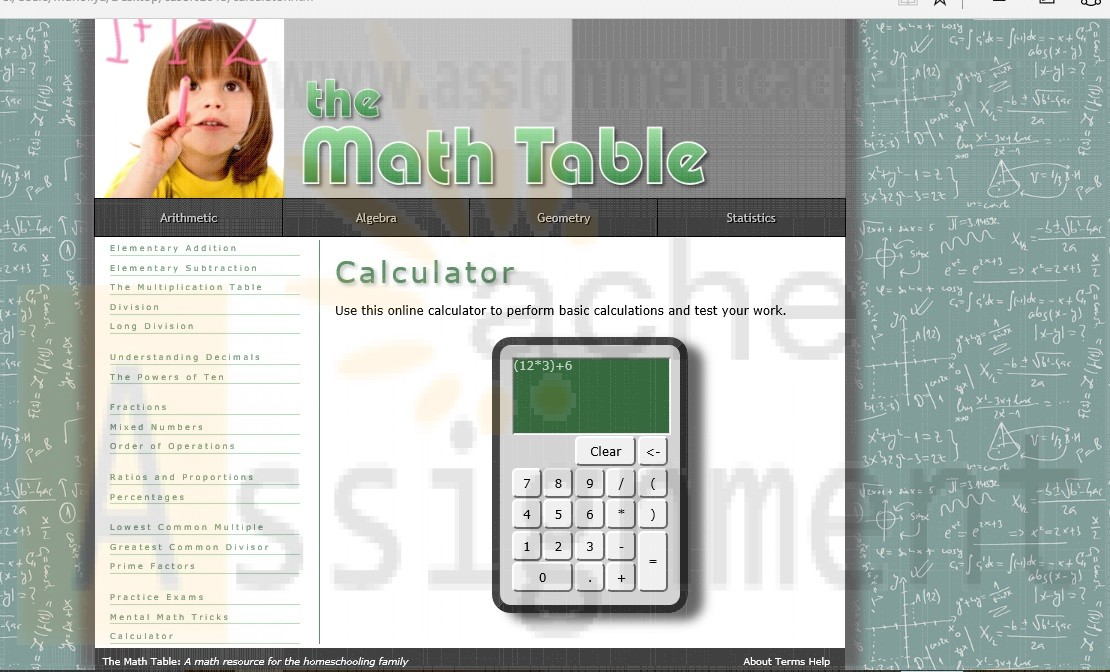 New Perspectives on HTML, CSS, and Dynamic HTML 5th edition Tutorial 11 Case 2 The Math Table
