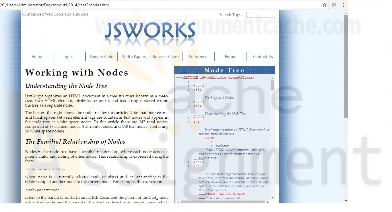 New Perspectives on HTML, CSS, and Dynamic HTML 5th edition Tutorial 14 Case 2 JSWorks