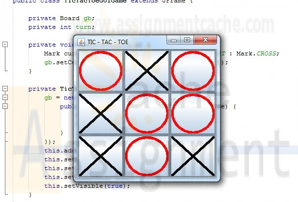 Penn foster Graded Project 5 TicTacToe Game GUI Java
