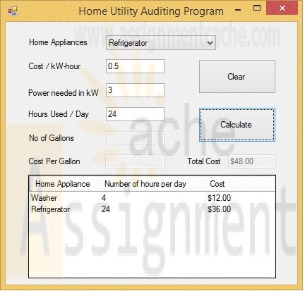 POS 408 Week 3 Home Utility Auditing Program With Application List