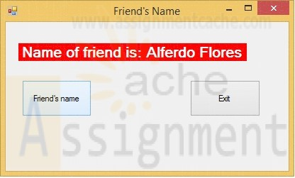 POS 409 Week 1 C# Program Friends Name GUI