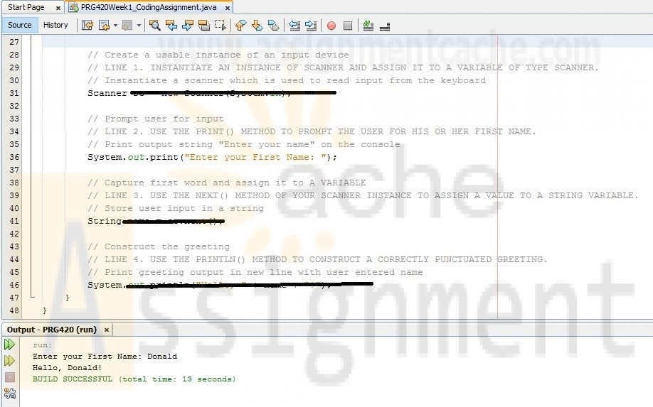 PRG420 Week 1 Individual Assignment Coding a Simple Hello world Java Program