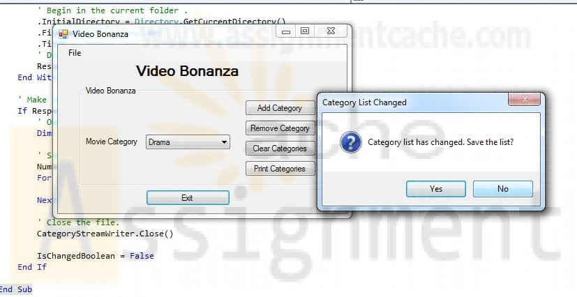 Programming in VB 2010 Chapter 11 Case Study Video Bonanza