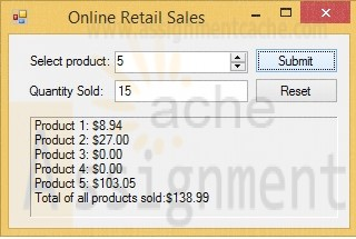 Visual Basic 2010 How to Program Deitel Exercise 5.5 Retail Sales Calculator Application
