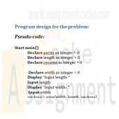 CMIS 102 Assignment 4 Functions Calculate Perimeter of a Rectangle Pseudocode