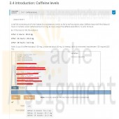 PRG211 LAB 3.4.1 Caffeine levels Program