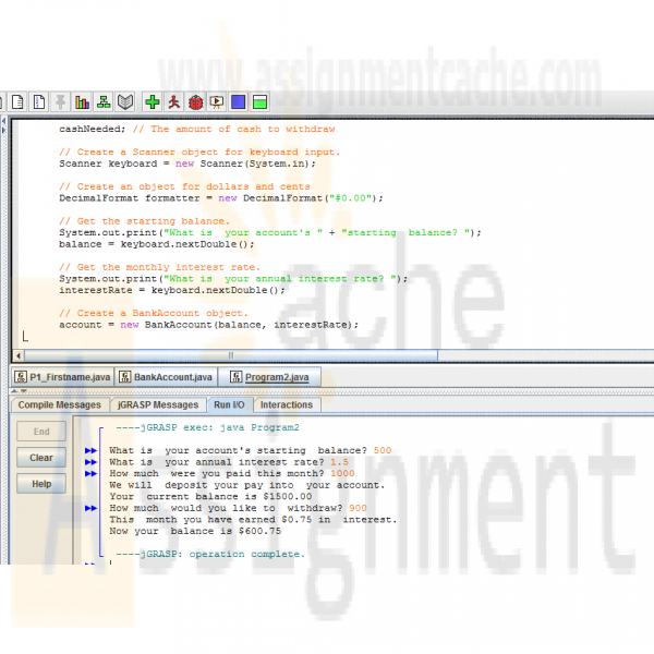 java program create gui bank account simulation dating