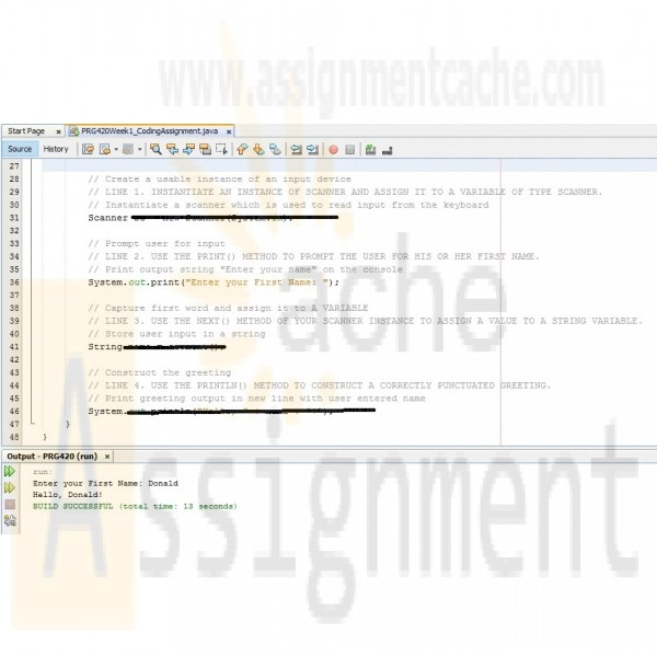 PRG420 Week 1 individual assignment Coding a Simple