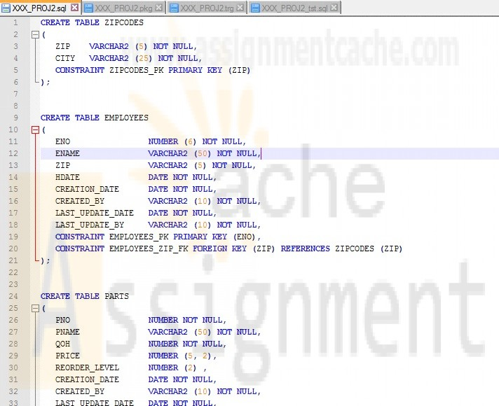 CMIS420 PROJECT 2 Mail-Order Database DML and DDL statements