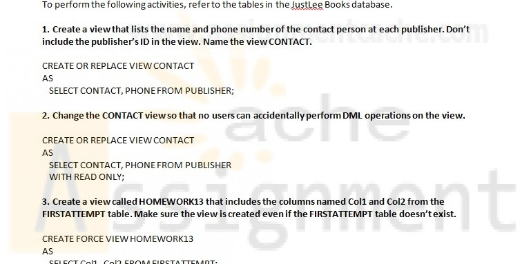 Oracle 11g SQL Joan Casteel Chapter 13 Hands-On Assignments