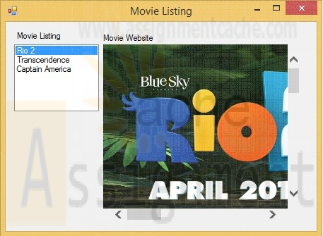 Programming In VB Advanced Topic in VB Exercise 14.5 Movie Listings