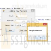 Advanced Visual Basic 2010 Chapter 7 Programming Challenge 1 Adding New Payments