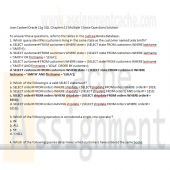 Joan Casteel Oracle 11g SQL Chapters 12 Multiple Choice Questions Solution