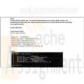Student Oracle Database Part1 Create Table