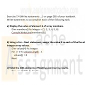 Visual Basic 2010 How to Program Deitel Exercise 7.4 Write statements