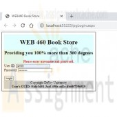 WEB460 Lab 5 of 7 Refactoring and Security Login Page