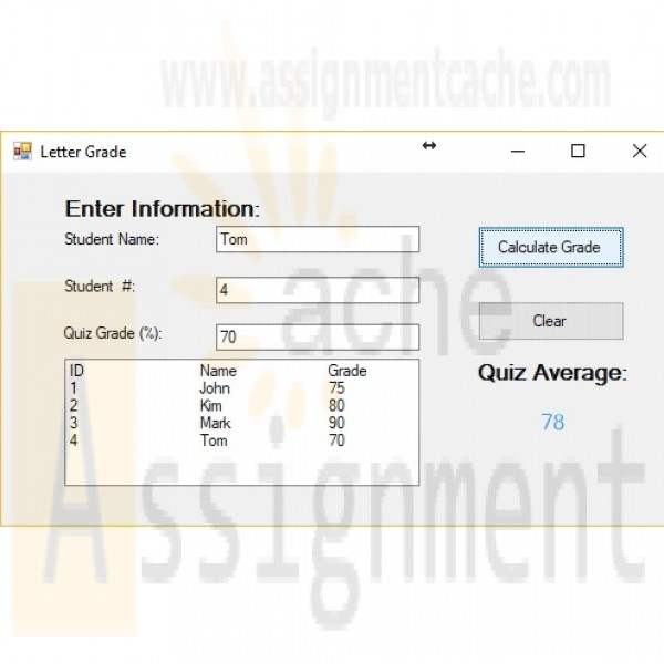 grade letter calculator itco221 unit 5 calculate and display a letter grade for 21989 | itco221 unit 5 calculate and display a letter grade for each student